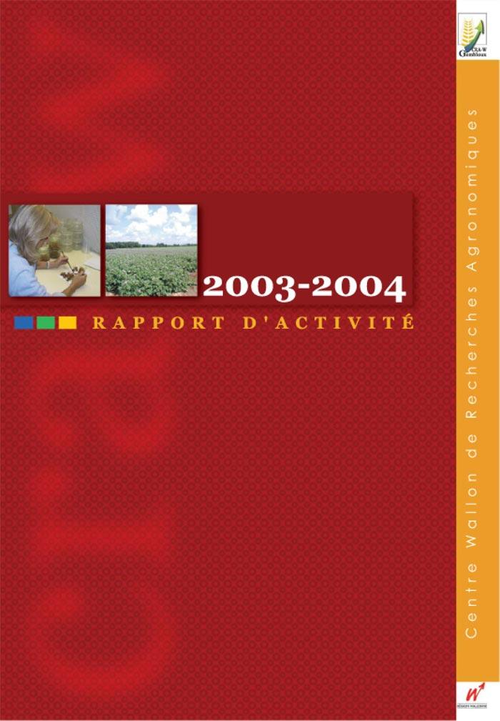Rapport d'activité 2003-2004