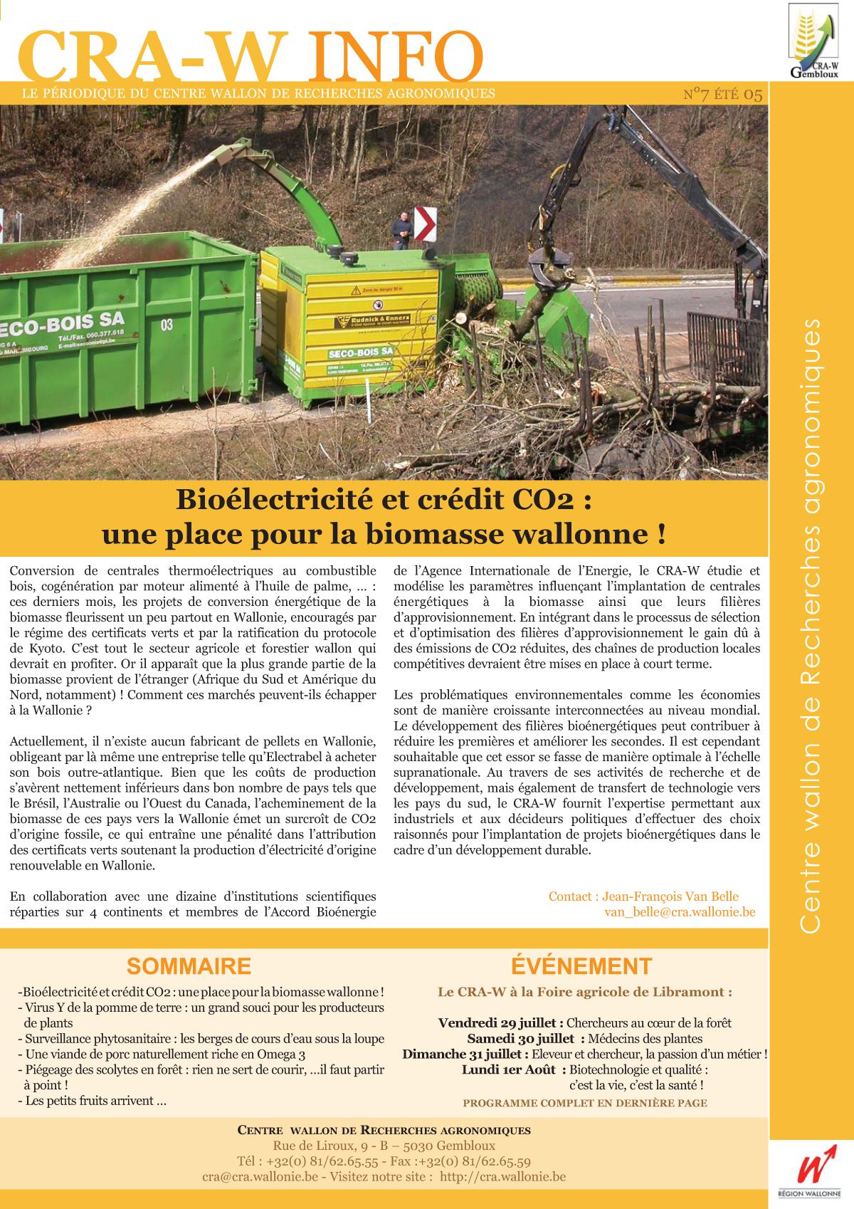 CRAW info n° 7