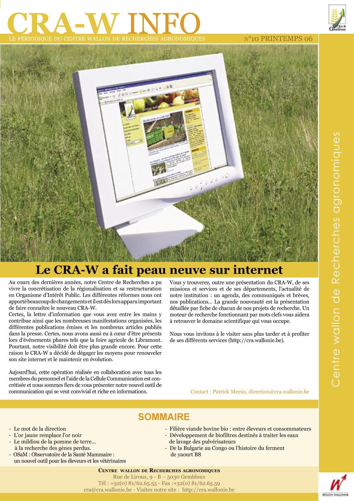 CRAW info n° 10