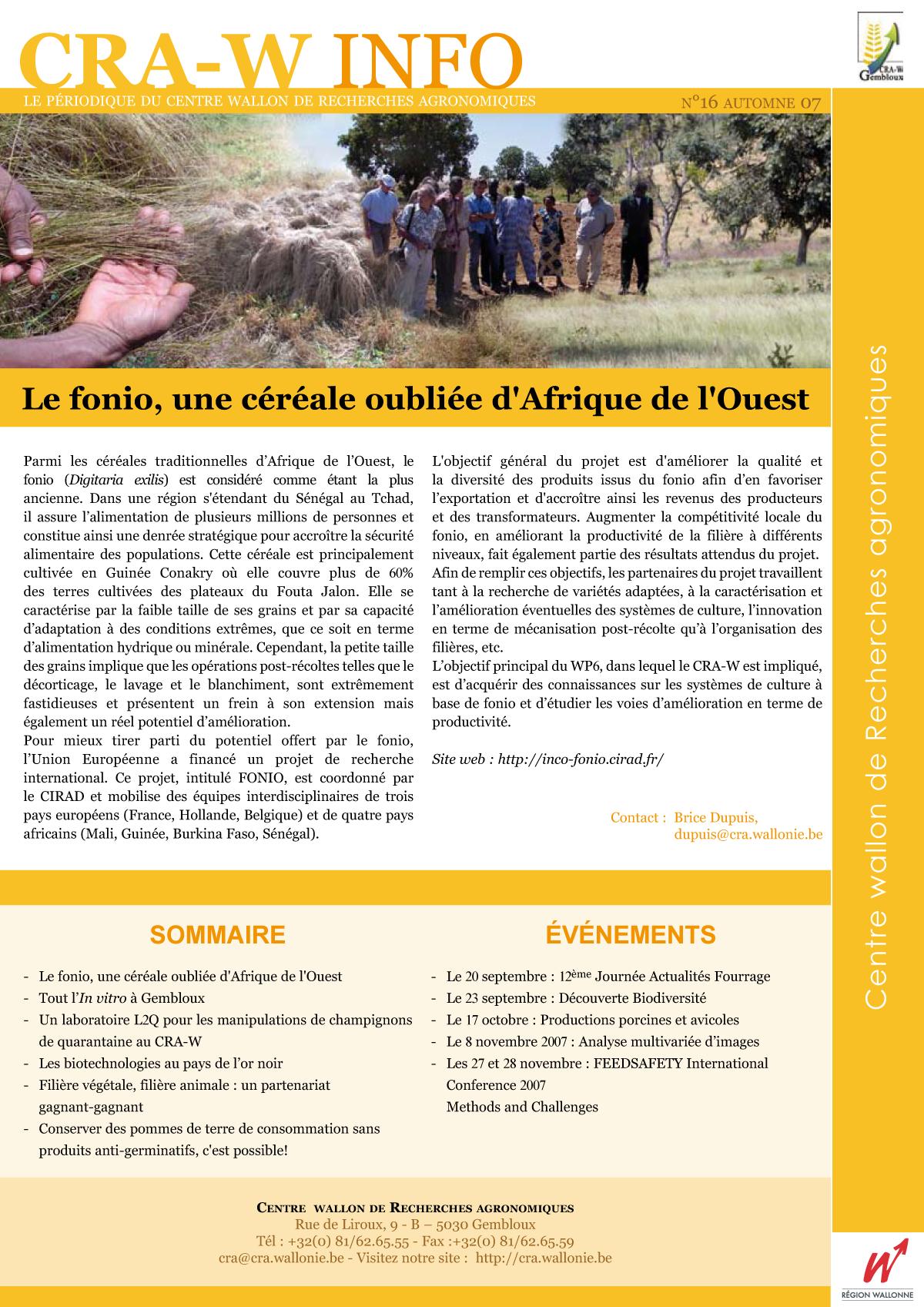 CRAW info n° 16