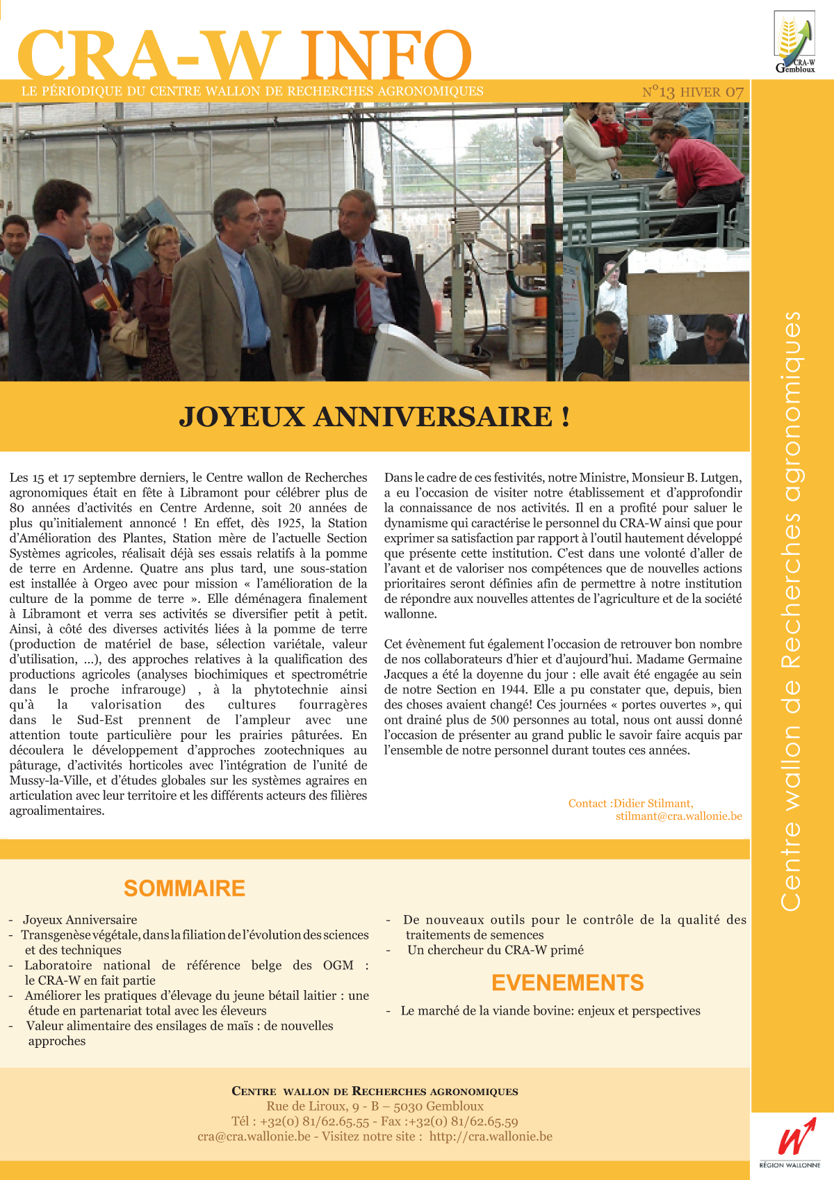 CRAW info n° 13