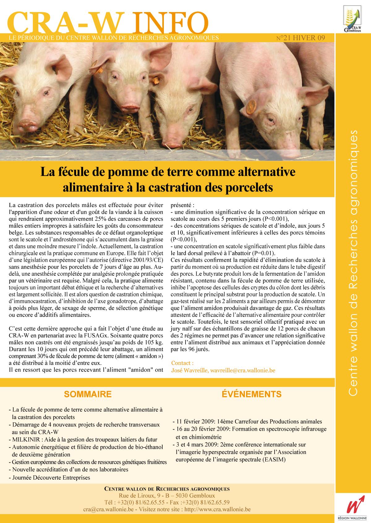 CRAW info n° 21