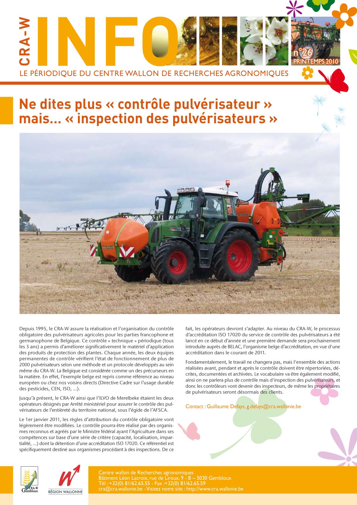 CRAW info n° 26