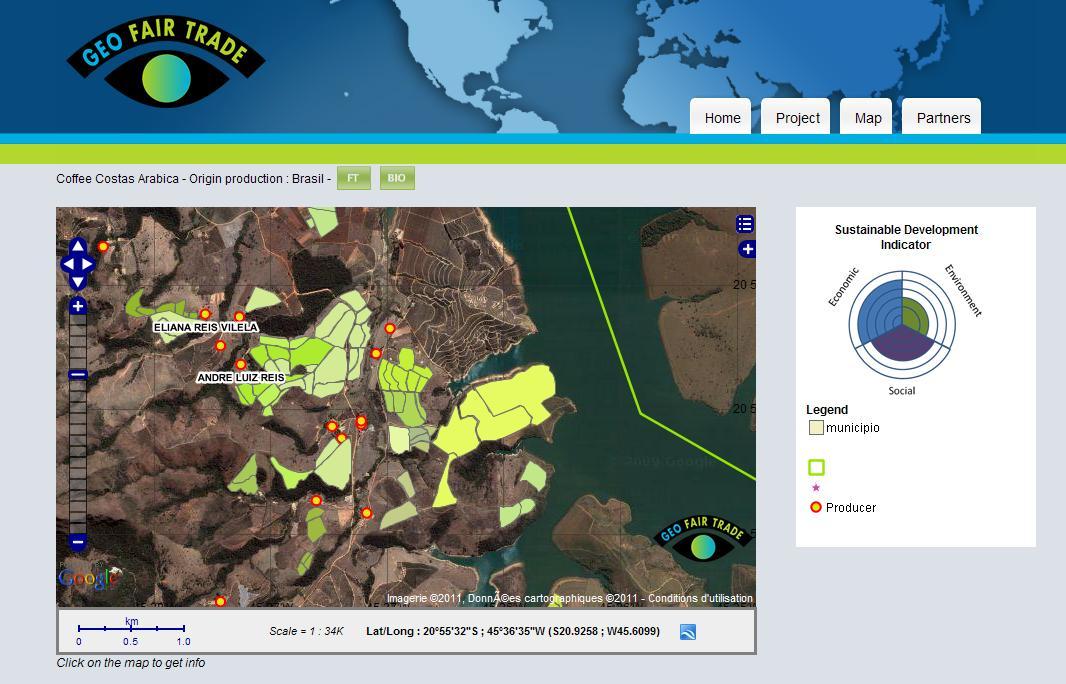 GeoFairTrade : un outil de communication et d'aide à la décision pour les producteurs du sud