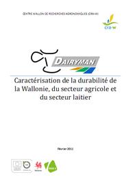 Caractérisation de la durabilité de la Wallonie, du secteur agricole et du secteur laitier