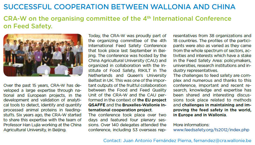 Collaboration entre Wallonie et Chine