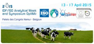The 2015 IDF/ISO Analytical Week will be held in conjunction with the Final OptiMIR Scientific and Expert Meeting
