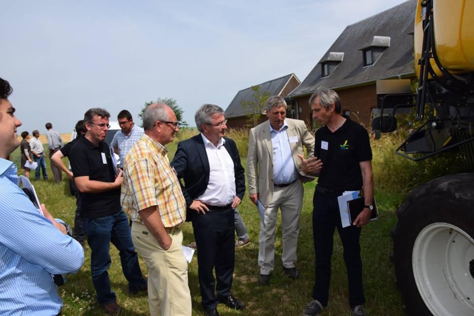 Visite du Ministre René Collin