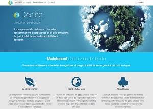 DECiDE, un outil pour évaluer les émissions de gaz à effet de serre et les consommations énergétiques