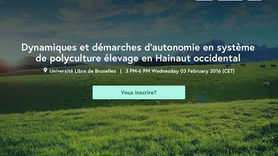 Autonomie en système polyculture élevage en Hainaut occidental