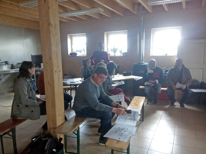 Atelier collcectif de restitution  avec les éleveurs du réseau bovin du CRA-W