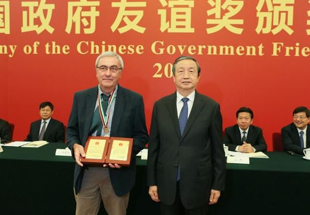 Jean-Louis Rolot, bénéficiaire de la Distinction de l'Amitié (Friendship Award) du Gouvernement chinois