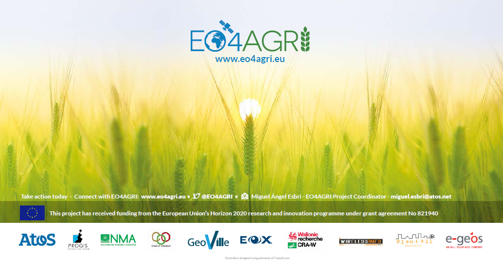 EO4AGRI: Bringing together the knowledge for better agriculture monitoring