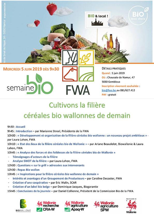 Semaine Bio - Conférence-débat - Cultivons la filière céréales bio wallonnes de demain