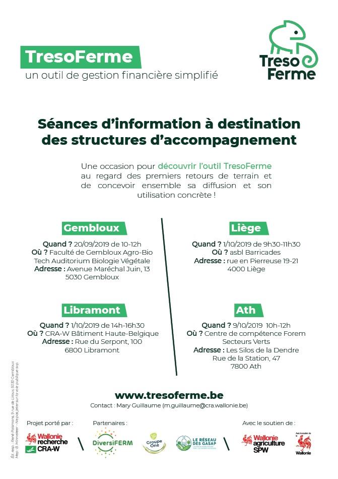 TresoFerme - Séances d'information sur l'outil de gestion financière simplifié