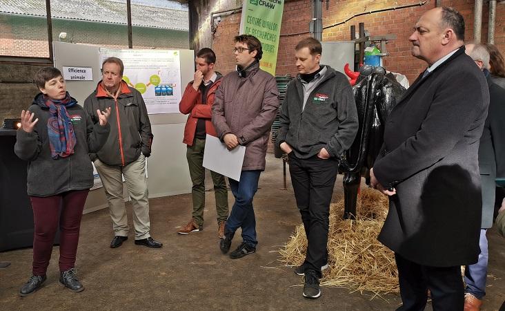 Visite du Ministre wallon de l'Agriculture, Monsieur Willy Borsus au CRA-W