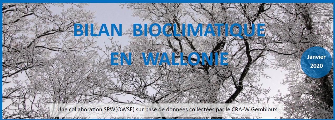 Les bilans agroclimatiques mensuels de Wallonie